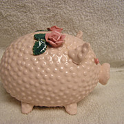 Vintage Lefton China Hobnail Piggy Bank