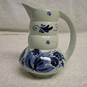 Vintage Blue  Delft Holland Hand Painted Miniature Pitcher