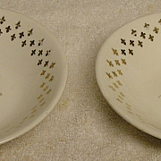 Two Vintage Wheat Pattern Cereal Bowls