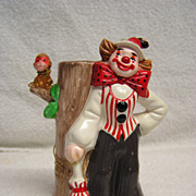 Vintage Enesco Lady Clown and Monkey Figurine