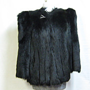 30s Art Deco Real Monkey Fur Boxy Jacket No Collar - For Wear or Re-Purpose
