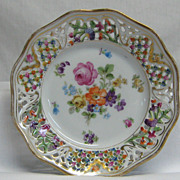 Decorative Schumann Plate Chateau Dresden with Pierced Edge