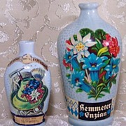 Vintage W. German Black Forest Region Porcelain/Pottery Liqueur/Liquor/Schnapps Bottle (2