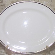 1946 Homer Laughlin Nautilus Shape Unnamed Pattern Gold Trim Platter