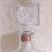 Pattern-Molded Daisy Glass Decanter
