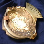 Copper Brass Fish Shaped Dish ~ Mexico ~