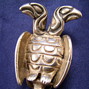 Northwest Coast Sterling Double Headed Eagle Pendant