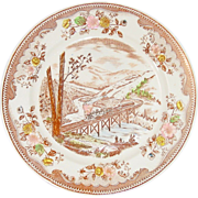 Transfer-ware Plate ~ Brown & Richie Ltd. ~ Frontier Locomotive