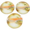 3 Hand Painted Plates, 6 1/2&quot; ~ Meito China ~ Made in Japan