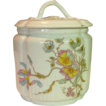 Old Hand Painted Porcelain Bisquit / Cracker / Cookie Jar