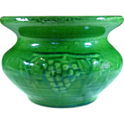 McCoy Pottery ~ Grape Cuspidor, Green ~ 1926