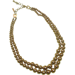 Monet Necklace ~ Double Strand of Graduated Gold-tone Beads ~ Free Shipping!