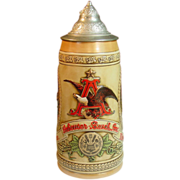 Anheuser-Busch Stein ~ Limited Edition &quot;E&quot; Series - 1986