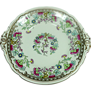 "Royal Crown Derby Bone China ~ 9.5"" Handled Plate, round ~ Circa 1950"