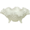 Fenton Glass ~ Hobnail Milk Glass ~ Three toed Bowl