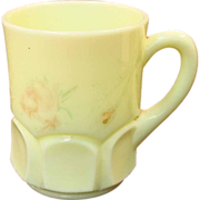 "Cambridge ""Krystol"" Custard Glass Mug ~ 1910"