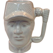 Frankoma Pottery ~ 1979 Golfer Mug ~ White