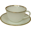 Fire King ~ Golden Anniversary, 22 Kt. Gilt Trim ~ 4 Cup & Saucer Sets