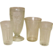 Depression Era Tumbler Group ~ Iris, Royal Lace, HA Cola Fountain