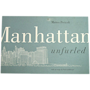 Manhattan Unfurled by Matteo Pericoli ~ 44' Continuous Drawing ~ 1st Edition