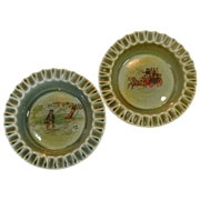 Wade of England ~ Ashtrays/Dishes ~ Fisherman ~ Coach
