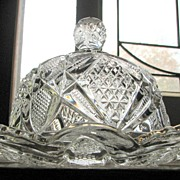 SALE Eapg U.S. Glass Butter dish, 'Pennsylvania' or 'Balder' pattern