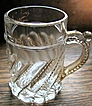 Eapg Westmoreland Glass, Child's Souvenir &quot;Swirl & Ball&quot; mug