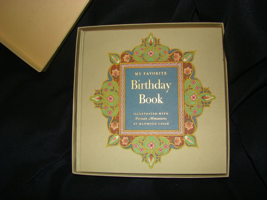 Vintage Adult Birthday Tracking My Favorite Birthday Book Hardcover Box ...