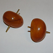 24 kt Gold Amber Earrings