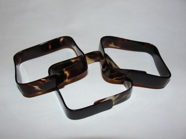 Square Tortoise Shell Bangle Bracelet Lot