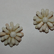 Angel skin Coral Flower Earrings