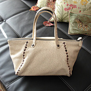 Bottega Veneta Hobo Beige and Woven Brown Leather Bag