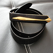 18 kt Gold Plated Gucci Fish Belt