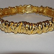 14 kt Gold Plated Christian LaCroix Bangle Bracelet