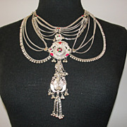 La Maharani Sterling Silver and Enamel Necklace