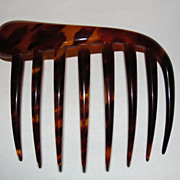 Medium Victorian Tortoise Shell Hair Comb