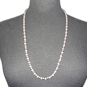 Sterling Silver and Rose Quartz Beaded Necklace