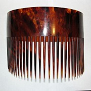 Large Hawaiian Tortoise Shell Hair Comb A