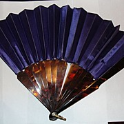 Tortoise Shell Fan and Purple Velvet