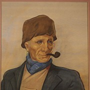 SALE Dutch Volendam fischerman by Dutch Willy Sluiter, signed and dated