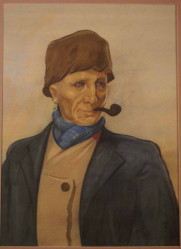 Dutch Volendam fischerman by Dutch Willy Sluiter, signed and dated