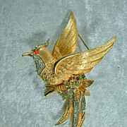 Vintage Boucher Bird of Paradise Brooch