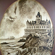 Vintage 1974 J. A. Kendall The Old Cliff House Framed Print