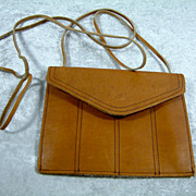 Vintage Brazilian Leather Cross Body Envelope Purse