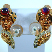 Vintage Har Genie Fortune Teller Earrings