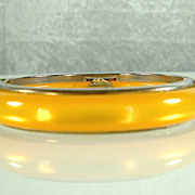Vintage Italian Yellow Lucite Bangle Bracelet