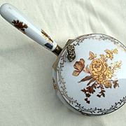SOLD ANDREA Silent Butler with Gold Flowers Made in Japan