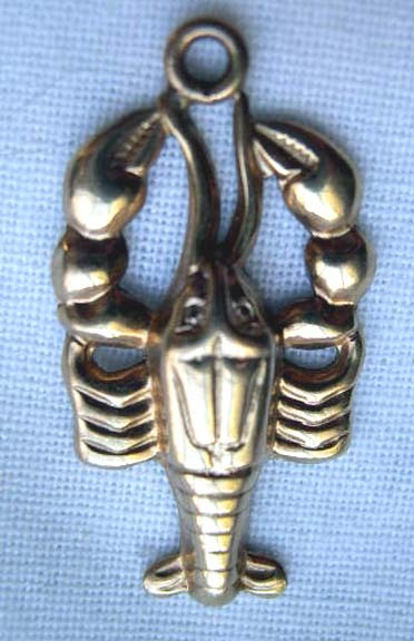 Vintage Danecraft Lobster Charm - 12 kt Gold Filled