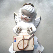 Vintage Napco August Angel Figurine