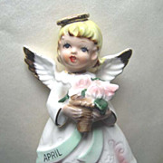 April Girl Angel Figurine Made in Japan